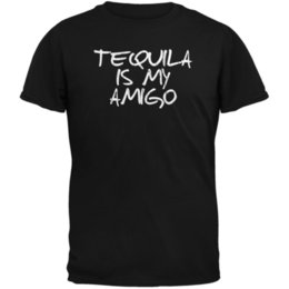 Red Black Grey Shirts Canada - Cinco de Mayo - Tequila is My Amigo Black Adult T-Shirt size discout hot new tshirt white black grey red trousers tshirt