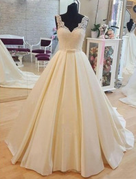 fbb24ea4e0a African Plus Size A-Line Wedding Dresses 2019 Arabic Nigerian Vestidos De  Novia Sexy V-Neck Applique Lace Satin Ruffles Formal Bridal Gowns