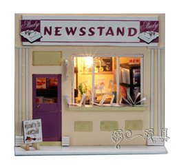 castle doll houses Canada - Wooden DIY Handmade Self-Assemble Dollhouse Mini House 13510 - NEWSSTAND