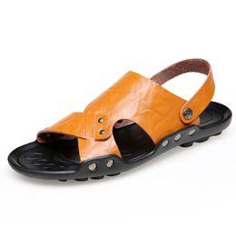 $enCountryForm.capitalKeyWord Australia - 2019 Summer Sandals For Men Cheap Pu Leather Men'S Sandals High Quality Male Shoes Slip On Comfortable Men Flats Beach