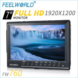 field monitors NZ - Freeshipping FW760 7 inch field monitor 1920*1200 external 1080P 4K Compatible video camera LCD monitor with IPS for JIB Steadicam