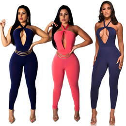3b00ef9a5ba 2019 Europe and the United States foreign trade summer new fashion  explosion models high elastic tube top hanging neck large size jumpsuit