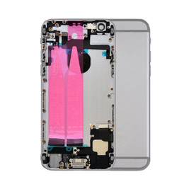 metal middle frame housing chassis NZ - 30pcs Full Housing Assembly Battery Cover Door Rear with Flex Cable For iphone 6 6G 6S Plus metal Back Middle Frame Chassis