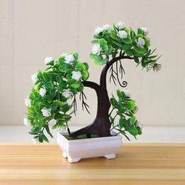 small bonsai pots 2019 - Garden Home Ornaments Artificial Plants Small Tree Bonsai Potted Hotel Wedding Display Party Supplies Fake Flower Deskto