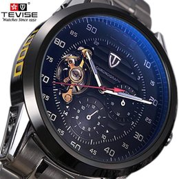 $enCountryForm.capitalKeyWord Australia - Mens Watches Top Brand Luxury Tevise Automatic Winding Tourbillon Mechanical Watch Sport Military Relogio Automatico Masculino MX190724