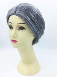 wigs performances NZ - 2019 Hot Sale Halloween Costume Ball Cos Grandma, Wig Stage Performance, Grandfather, Old Lady, wig, Headgear, Factory Direct Sale 917X30