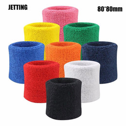 wristband guard Australia - 2PCs Adult Cotton and Fiber Wrist Sweat Band Sports Set Gym Sweatband Fitness Towel Fancy Dress Run Wristband Wrist Guard Suppor