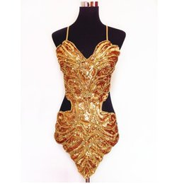 $enCountryForm.capitalKeyWord UK - Studio art photography stage sexy sequin beading butterfly bellyband hollowed halter backless lace-up belly dance dress set