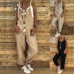 $enCountryForm.capitalKeyWord Australia - Strap Punk Baggy Pants Women's Cotton Linen Jumpsuit Full Trousers Spring Loose Harem Pants Women With Pockets Casual Turnip