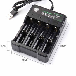 $enCountryForm.capitalKeyWord NZ - Top Quality Lithium Battery Charger With USB Cable 4 Charging Slots 18650 26650 18490 Rechargeable Batteries Charger Better Nitecore