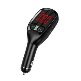 G11S Автомобильный комплект громкой связи Bluetooth FM-передатчик USB-зарядное устройство Адаптер MP3-плеер на Распродаже