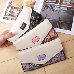 $enCountryForm.capitalKeyWord Australia - Fashion Envelope Women Long Purse 3 Fold Flowers Printing PU Leather Ladies Coin Purse Wallet Drop Shipping