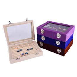 $enCountryForm.capitalKeyWord UK - Clear Lid Jewelry Rings Earrings Tray Showcase Display Storage Box Organizer Gift for Girls and Women
