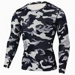 Long Sleeves Compression T Shirts Australia - New Camouflage Military T-shirt Bodybuilding Tights Fitness Mens Dry Quick Camo Long Sleeve T Shirts Crossfit Compression Shirt