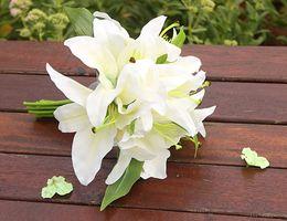$enCountryForm.capitalKeyWord Australia - Home Wedding Decor Atifical Flowers Real Lily Flowers Artificial Flowers Bouquets For Home Wedding Festival Decoration