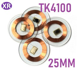 Transparent Cards Australia - 500pcs Diameter 2.5cm TK4100 Promixity Token RFID Transparent Coin Cards, RFID Round coins Cards  125KHz Frequency coin Tag