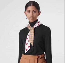 $enCountryForm.capitalKeyWord Australia - Love grid small silk scarf versatile tie package ribbon lady scarf hair band decorative scarf wholesale