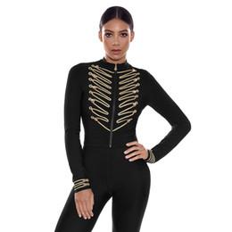 $enCountryForm.capitalKeyWord Australia - New Fashion Vintage Long Sleeve Short Bandage Jacket 2018 Women High Waist Slim Celebrity Jacket Black