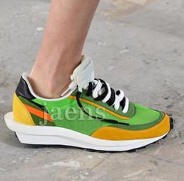 Опт Скидка SACAI LDV Waffle Черный Зеленый Синий Мужчины Повседневная обувь для новых женщин Дизайнерские Бегунки Мода Боулинг обувь Eur36-45
