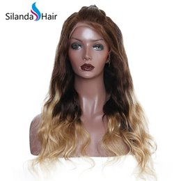 Highest Quality Human Hair Wigs Australia - Silanda Hair High Quality Ombre #4 27 Body Wave Remy Brazilian Lace Front Full Lace Human Hair Wigs Free Shipping