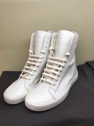 $enCountryForm.capitalKeyWord Canada - Factory Outlet genuine leather high-top men's shoes 2018ss simple easy first layer of cow leather white boots classic