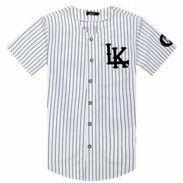 691262888441e4 Hot Selled Men T-shirts Fashion Streetwear Hip Hop Baseball Jersey Striped Shirt  Men Clothing Tyga Last Kings Clothes J190430