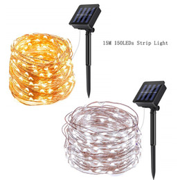 $enCountryForm.capitalKeyWord Australia - Solar String Lights 150 LED Copper Wire 2 Modes Starry Lights IP65 Decorative Fairy Lights for Gardens Home Dancing Party Christmas