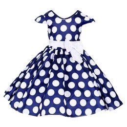 $enCountryForm.capitalKeyWord UK - New Baby Girl Short Sleeve Bow Princess Dress Children's Kids Polka Dot Big Bow Party Wedding Tutu Dresses Costumes Y19061501