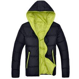 e741fadb6b7 2018 New Men Winter Jacket Fashion Hooded Thermal Down Cotton Parkas Male  Casual Hoodies Windbreaker Warm Coats 5XL