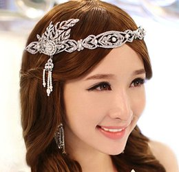 Wholesale gatsby accessories resale online - new fashion Korean Great Gatsby wedding jewelry hair accessories bridal tiara crown