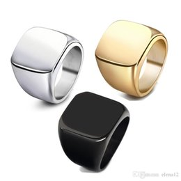 13 Rings Australia - 4 colors Rings Size 7-13 Vintage Men Jewelry Stainless Steel black Ring Fashion Design Plated Gold Black gold blue Mens Rings drop ship