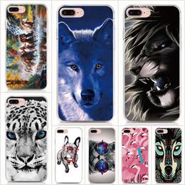 $enCountryForm.capitalKeyWord Australia - For iPhone X XS XR XS Max 5 5S 6 6S 7 8 Plus case Soft TPU Print pattern Animal Lion King Glasses pug Tiger Cats High quality phone cases