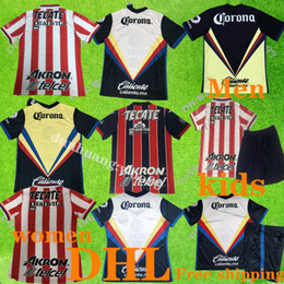 uniforms soccer america NZ - DHL Free shipping 20 21 Club America soccer Jersey home 2020 Mexico Chivas Football uniform Women Kids Adult suit Size can be mixed batch