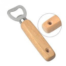 wooden tool handles UK - Wooden handle Stainless steel Red wine beer bottle opener bar tools free shipping great qualtiy 2018