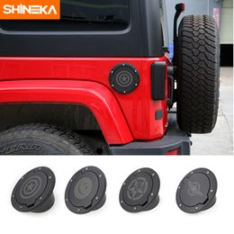 $enCountryForm.capitalKeyWord Australia - SHINEKA Newest Fuel Tank Cover Gas Tank Lid Filler Cap Metal ABS For Jeep Wrangler JK 2007 Up Exterior Accessories Free Shipping