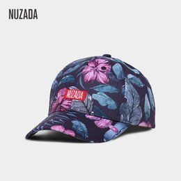 Discount new flower snapback men - NUZADA Brand Exclusive New Printing Baseball Cap Men Women Casual Couple Caps Snapback Fashion Classic Hats Flowers Styl
