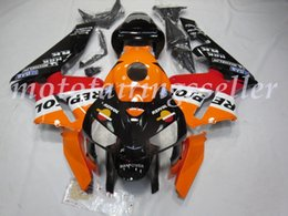 black repsol fairings Australia - Top (Injection mold) New ABS Motorcycle Full Fairing Kit Fit For Honda CBR600RR 05 06 F5 2005 2006 Fairings Black Bottom Repsol