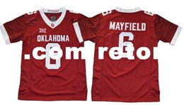 oklahoma sooners jersey UK - Mens NCAA Oklahoma Sooners Baker Mayfield College Football Jersey 28 Adrian Peterson 44 Brian Bosworth 14 Sam Bradford OSU Sooners Jersey