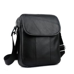 Messenger Bags For Men Leather UK - Men Casual Cow Genuine Leather Bag Men Handbags Shoulder Bag Crossbody Male Retro Messenger Bags Small Handbags For Male