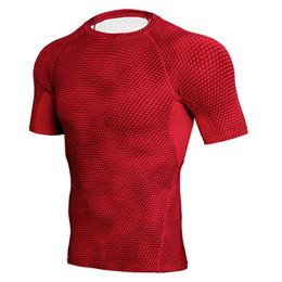 $enCountryForm.capitalKeyWord UK - Wholesale Funny Snake Skin 3D Printed T-Shirts Compression Tights Running Shirt Men Fitness Jerseys Sports Suit Gym Training Rashguard Man