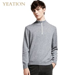 $enCountryForm.capitalKeyWord NZ - YEATION Pullovers Half Zipper Leisure Woolen Sweater Knitted Male Top Quality Clothing