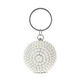 $enCountryForm.capitalKeyWord Australia - Mini Ladies Handbag Round Ring Handle Hand Bag Luxury Clutch Diamonds Pearl Mini Tote Evening Party Wedding Small Purse