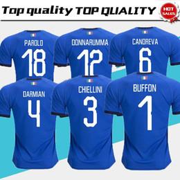 c257e8e67 Italy World Cup Jersey INSIGNE ZAZA EL SHAARAWY PIRLO MARCHISIO De Rossi  Bonucci Verratti Buffon Custom Italia Soccer Football Shirt men