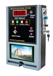 Discount coin operated - Professional Coin-operated Breath Alcohol Tester breathalyzer machine bar