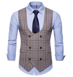 Chinese  New Sale Men's Clothing Male Waistcoat Slim Fit Chaleco Hombre Gentlemen Blaser Coletes Masculino Groom Men Suit Vest manufacturers
