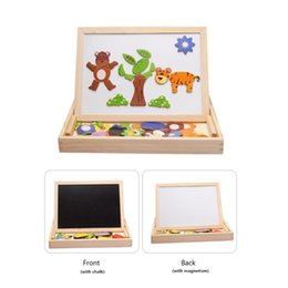$enCountryForm.capitalKeyWord Australia - Wooden Multifunction Children Animal Puzzle Writing Magnetic Drawing Board Blackboard Learning Education Toys For Kids