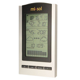 Station Wireless Controllers Australia - Freeshipping LCD Digital Weather Station with Indoor Outdoor Wireless Temperature Humidity Silver Black
