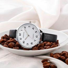 Ginebra Moda Top Brand Mujeres Reloj Casual Damas de Cuero de Imitación de Cuarzo Analógico Reloj de Damas Relojes redondos Reloj mujer