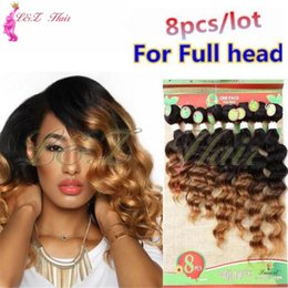 Brazilian Curly Weave Hairstyles Australia - 8pieces ombre Kinky Curly Weave Bundles 8-14 Inch indian raw afro Hairstyle 6A Brazilian Products 8Bundle Deep Afro Kinky Curly Brazilian