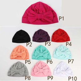 New Baby girls Solid Colored Donut Hats BeBe Turban Hood Solid Knotted Cap  Unisex Cotton Soft Cute Hats Newborn Head Accessories B11 4402d3d4dbde